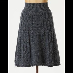 Anthropologie Flowing Cables Sweater Skirt (Small)